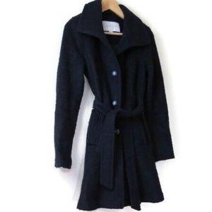 Jessica Simpson Navy Blue Boucle Coat XS